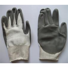 Găng tay chống cắt Dyneema trắng phú PU