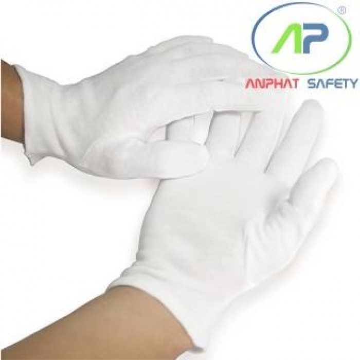 Găng tay thun PE trắng (1Bịch 12đôi)