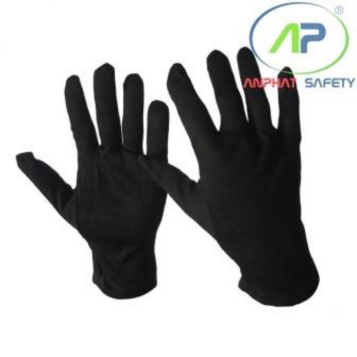 Găng tay thun màu đen 008BL