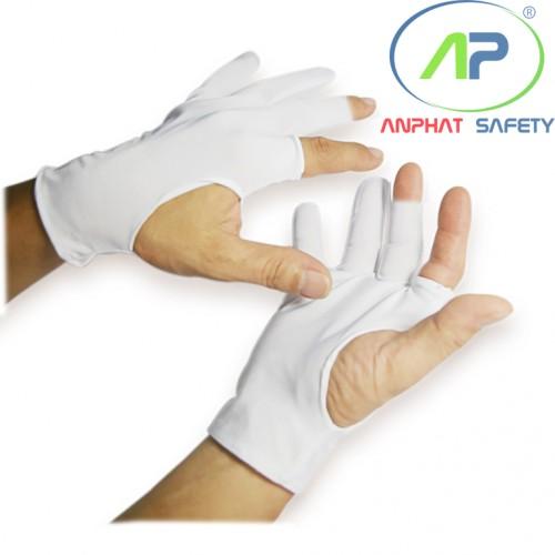 Găng tay thun lạnh ráp kẽ (cắt 5 ngón) Size M