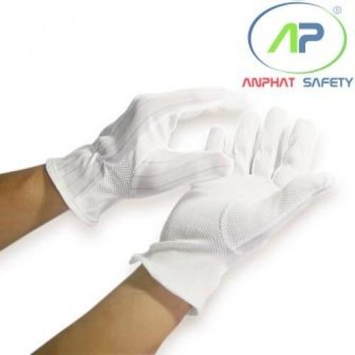 Găng tay chống tĩnh điện chấm hạt (L) (10 đôi/bịch)