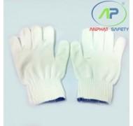 Găng tay Poly (Trắng) cổ ngắn (K7) 80g