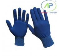 Găng tay thun không phủ PU (Màu xanh) Size L