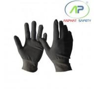 Găng tay thun không phủ PU (màu xám) Size L
