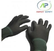 Găng tay thun không phủ PU không viền (màu xám) Size M
