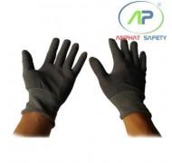 Găng tay thun không phủ PU (màu xám) Size S