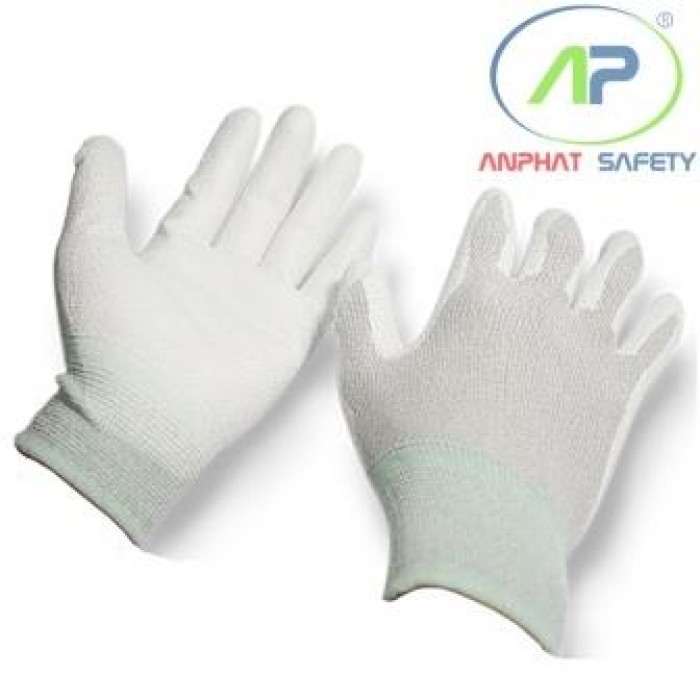 Găng tay chống tĩnh điện phủ lòng màu xám Size L